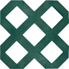 Decorative Lattice Traditional Panel - Forest Green